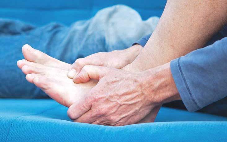 درد روی پا