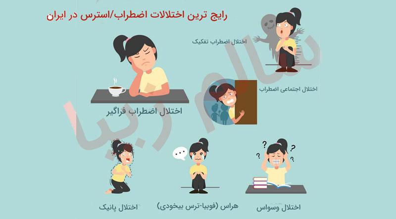 انواع اضطراب و استرس در ایران