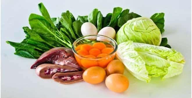 مواد غذایی ویتامین ب5