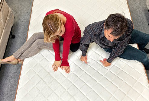 Mattresses are made of a variety of materials. Some are softer or firmer.
