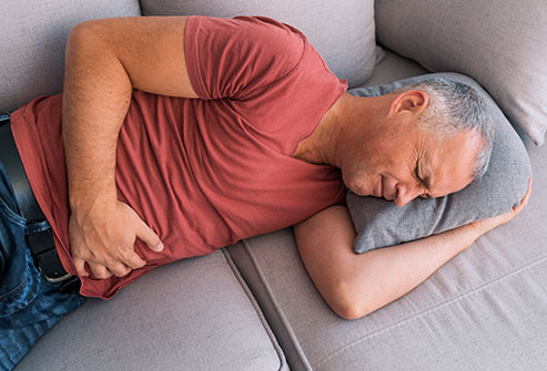 Sleeping on the right side can cause more acid to leak through your esophagus.